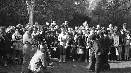 Crowds of people came to see the filming of Saturday Superstore at Christchurch Park in 1984. Pictur