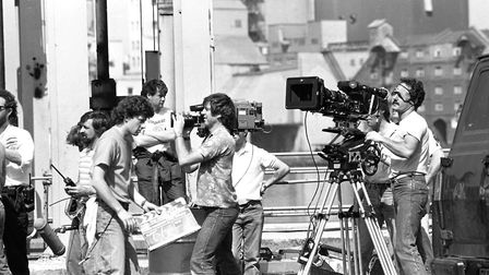 Some of the cameras that were used during filming of The Fourth Protocol in Ipswich in 1986