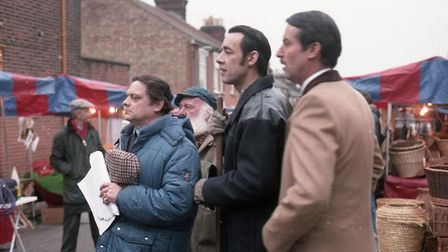 Only Fools and Horses filming along Seymour Road in Ipswich back in 1987 Picture: ARCHANT