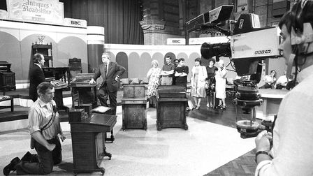 The set for Antiques Roadshow filming in the Corn Exchange in 1985 Picture: RICHARD SNASDELL/ARCHANT