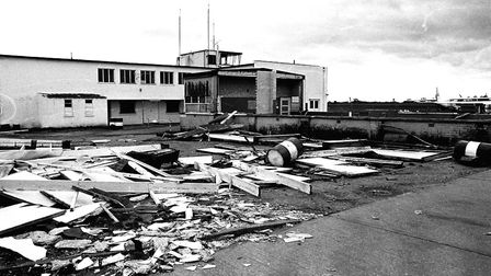 Damage caused to Ipswich Airport by the Great Storm of October 1987 Picture: ARCHANT