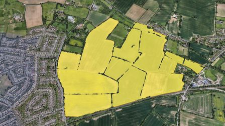 Henley Gate is part of 3,500 new homes coming to Ipswich. Picture: GOOGLE EARTH
