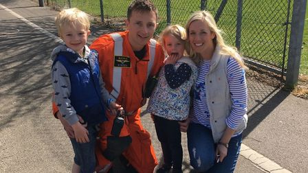 Kim Berry with her husband Dr Neil Berry and their two children. Picture: BERRY FAMILY