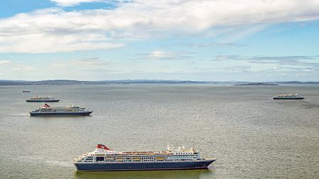 The Fred.Olsen fleet is heading to Rosyth as future cruises were put on hold pending further updates
