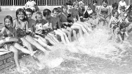 Were you enjoying the summer at Broomhill Pool,Ipswich in August 1981? Picture: DAVID KINDRED