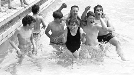 Splashing around at Broomhill Pool in May 1989 Picture: ARCHANT
