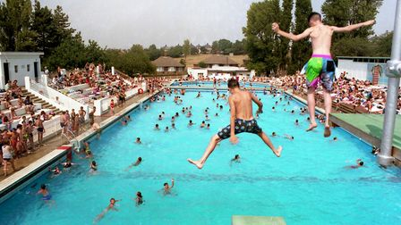 Fun at Broomhill Pool in August 1990. Picture: RICHARD RACKHAM