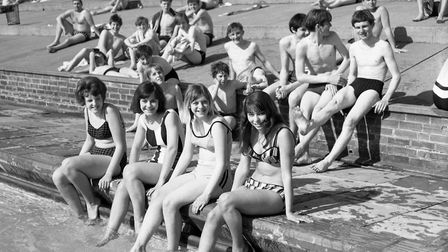 Youngsters enjoying the sun at Broomhill Swimming Pool in May 1966 Picture: ARCHANT