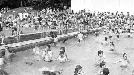 Hot weather in August back in 1975 Picture: ARCHANT