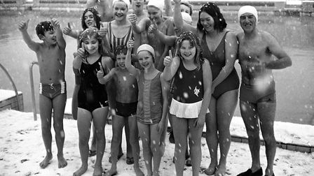 A Christmas Day swim in December 1970 Picture: ARCHANT