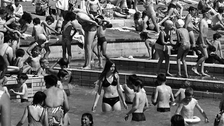 Schoolchildren at Broomhill Swimming Pool in June 1970 Picture: ARCHANT