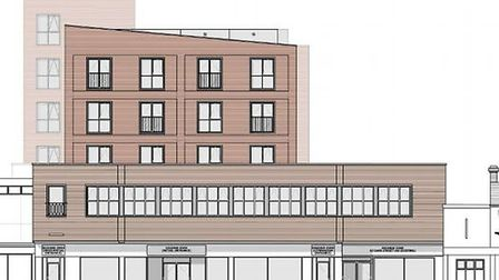 An architects' drawing of the proposed new look of the former Argos site in Carr Stree. Picture: B3