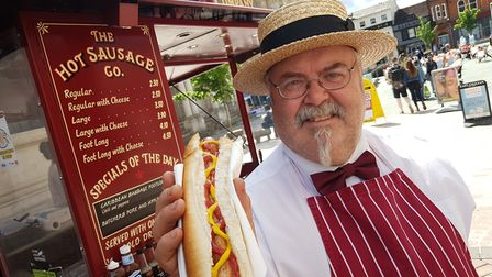 Andrew Babington-Barber from the Hot Sausage Co, which is reopening to customers on Monday, June 15.