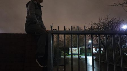 We found ourselves locked in a car park, so we needed to jump the gate to leave Picture: Lucy B