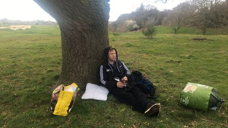 We found a local park so we could feel safe away from others Picture: Lucy Buchholz