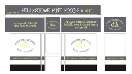A mockup of what the Felixstow Fine Foods and Deli will look like when it opens in Crescent Road lat