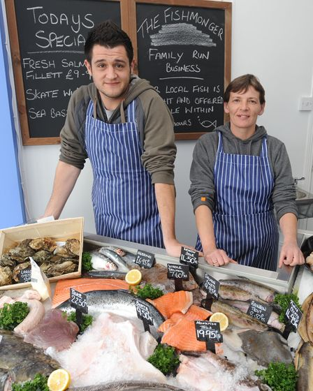 Sean Measures and Hannah Branch at The Fishmongers in Crescent Road, Felixstowe, where they will be