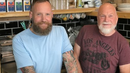 Geoffrey Bligh and Philip Rivers of Hank's Deli & Shop in Ipswich, which has just launched a new Han