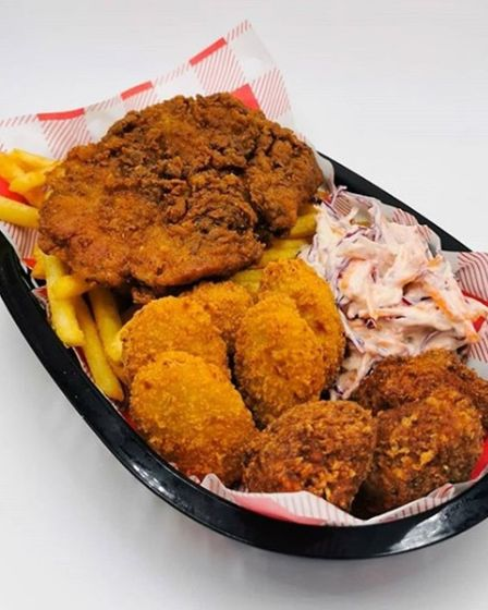 A vegan chicken basket is one of the items available from Hank's Dirty Picture: HANK'S DELI & SHOP