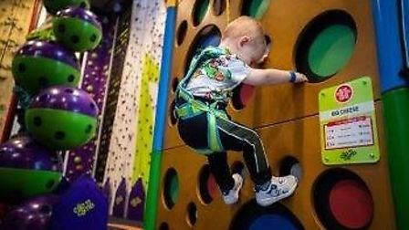 The new Clip 'n' Climb centre in Ipswich was open for just nine months when the pandemic struck Pic