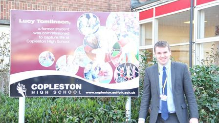 Ipswich MP Tom Hunt on a previous visit to Copleston High School in Ipswich. Picture: TOM HUNT MP