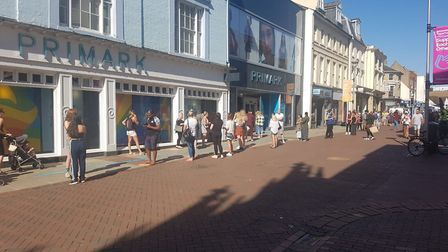 People in Ipswich have been queuing outside Primark today. Picture: ARCHANT