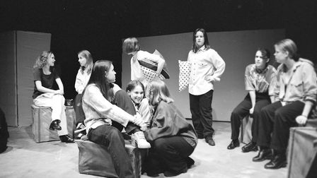 Stoke High School students preparing for their Reginonal Youth theatre production in 1995 Picture: R