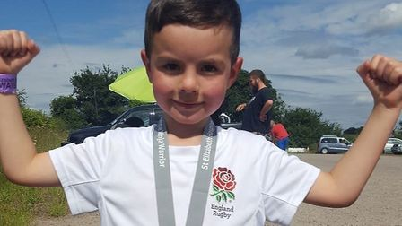 Jacob Chalklen is running a marathon distance in memory of his great-grandmother. Picture: MARK CHAL