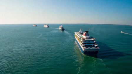 Four Fred.Olsen ships sailing off Picture: FRED.OLSEN CRUISE LINES