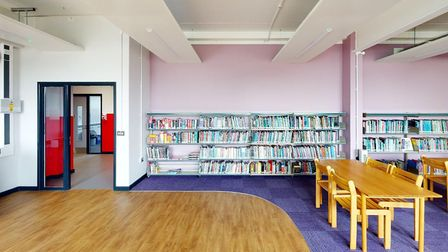 Copleston High School's new multi-million pound building includes a spacious library. Picture: OAKSM