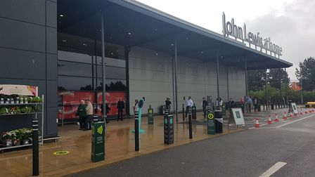 John Lewis in Ipswich is opening for the first time since lockdown Picture: WILL JEFFORD