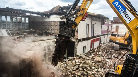 Demolition work is taking place at Copleston High School Picture: SARAH LUCY BROWN