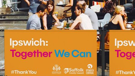 Outdoor seating clusters will be introdused in Ipswich town centre as part of the second phase of re