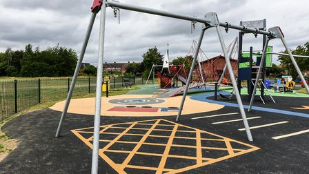 The Dumbarton Road playground was finished in March, but couldn't open to to coronavirus. Picture: S