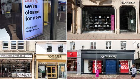 A number of shops and cafes in Ipswich town centre are yet to reopen following the easing of lockdow