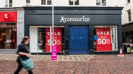 Accessorize remains closed in Ipswich Picture: SARAH LUCY BROWN