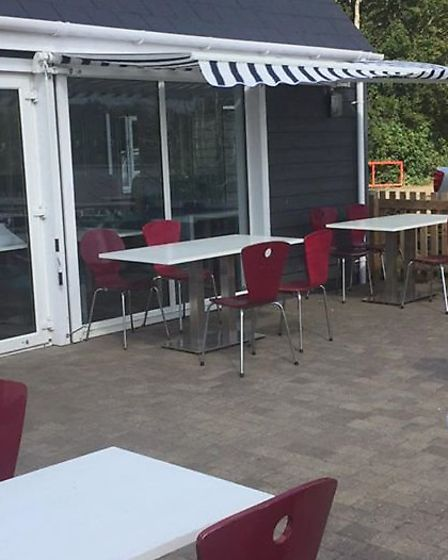 Tables and chairs socially distanced at the Waterfront Diner near Ipswich Picture: PATRICK HEFFER