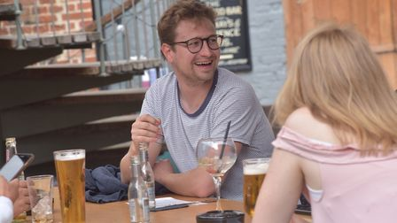 Pubs in Ipswich reopen for business. Isaacs Byline: Sonya Duncan (C) Archant 2020