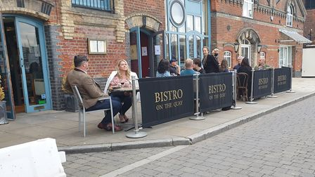 Ipswich Waterfront was busy well into the evening Picture: ARCHANT