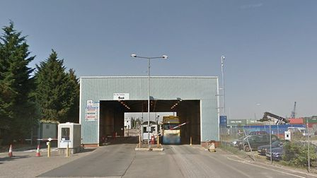 Plans have been submitted for a ready mix concrete plant at Ipswich Docks. Picture: GOOGLE
