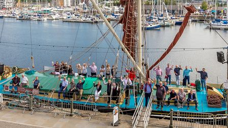 The Thames Sail Barge Victor pictured at ABP's Port of Ipswich Picture: STEPHEN WALLER/ABP