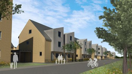 Ipswich Borough Council is hoping to build 96 new homes near Downham Boulevard on the Ravenswood dev