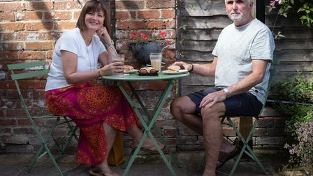 Linda and Steve Walldridge enjoying a lunch at Applaud Picture: SARAH LUCY BROWN