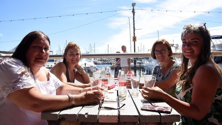 Heidi. Emma, Carmen and Leanne enjoying a drink at Isaacs. The people of Ipswich enjoying a drink an