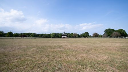 An empty Trinity Park during lockdown Picture: SARAH LUCY BROWN