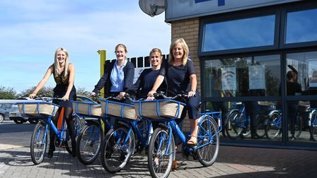 New free loan Masterbikes are proving popular with office workers at Masterlord Office Village in Ip
