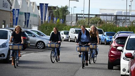 The new Masterlord Office Village scheme is encouraging people onto two wheels Picture: CHRIS DAWSO