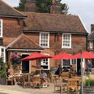 The Woolpack in Ipswich had a small number of drinkers in their beer garden staying safe on Saturday