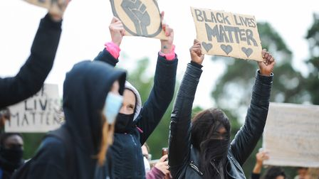 While many protests held by Black Lives Matter have been entirely peaceful, such as this one in Ipsw