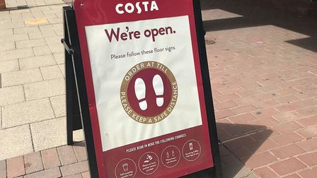 Costa Coffee has reopened its branch in the Debenhams in Ipswich town centre. Picture: ARCHANT
